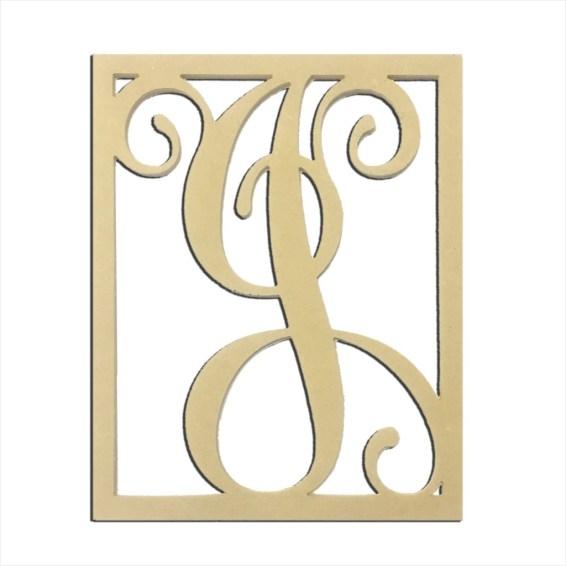 """14"""" Monogram Capital Letter J"""