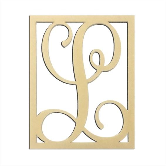 "14"" Monogram Capital Letter L"