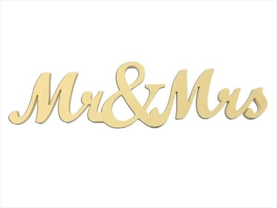 "Mini ""Mr. & Mrs."" Script 5"" Package of 4"