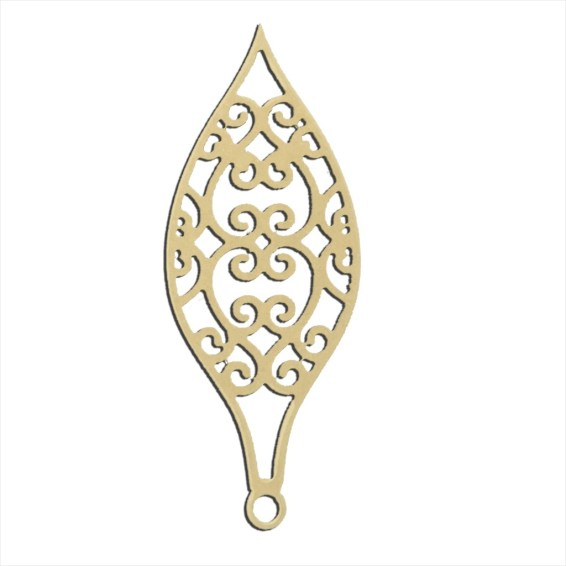 "Filigree Small Ornament 14"" x 6"""