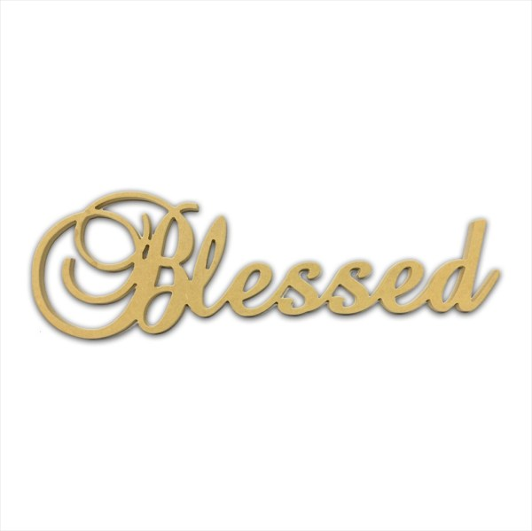 "10"" Script Cursive Text Word (Blessed)"