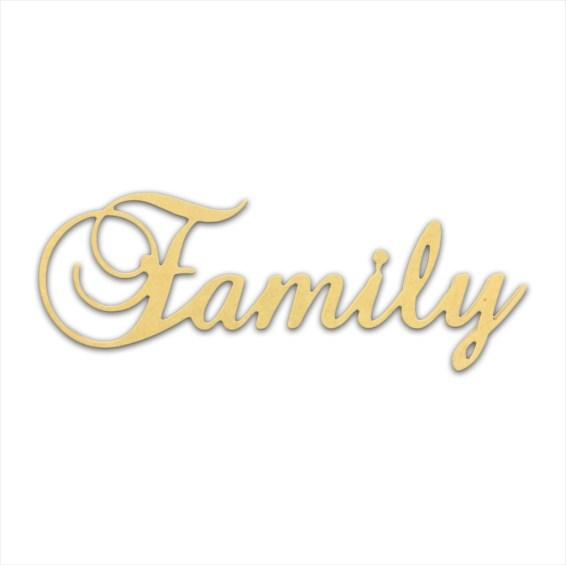 "10"" Script Cursive Text Word (Family)"
