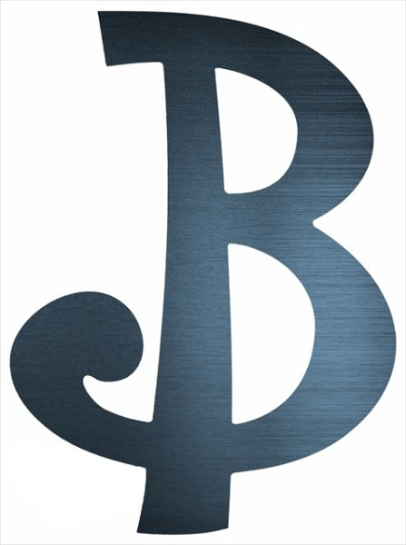 """Curly Letter B (4"""")"""