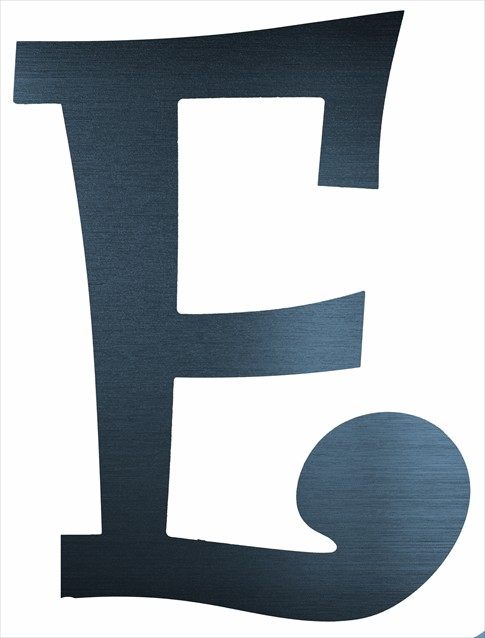 "Curly Letter E (2"")"