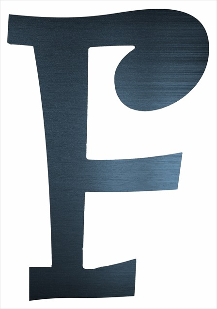 "Curly Letter F (2"")"