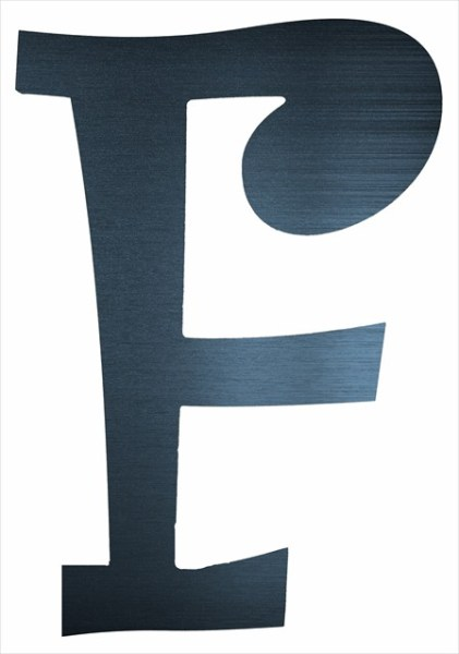 """Curly Letter F (2"""")"""