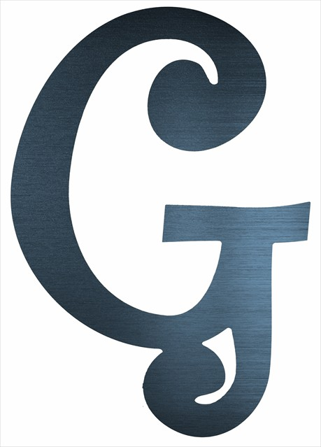 "Curly Letter G (4"")"