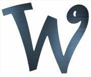 """Curly Letter W (2"""")"""
