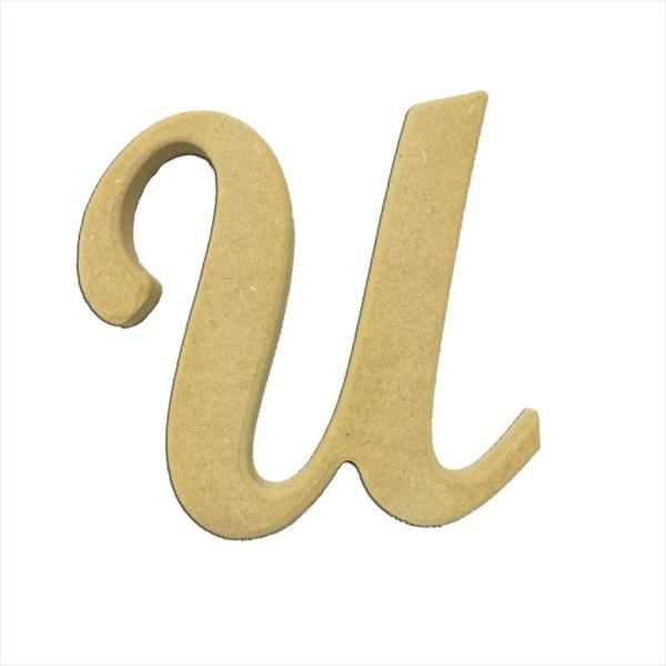 "22"" Script Cursive Letter U"