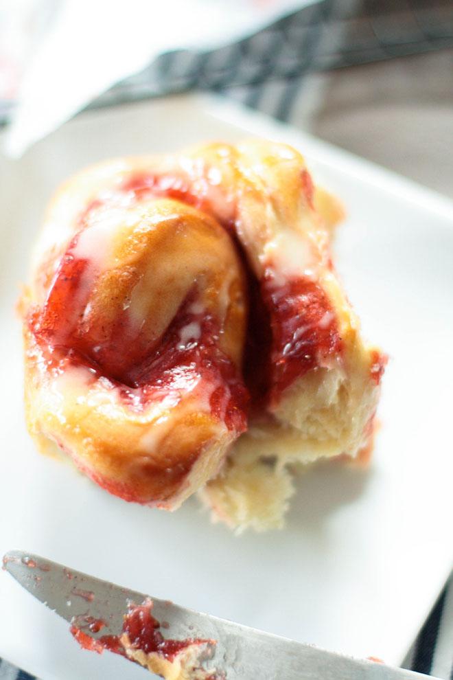 Rolls fraises'