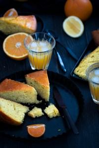 Gâteau à l'orange entière