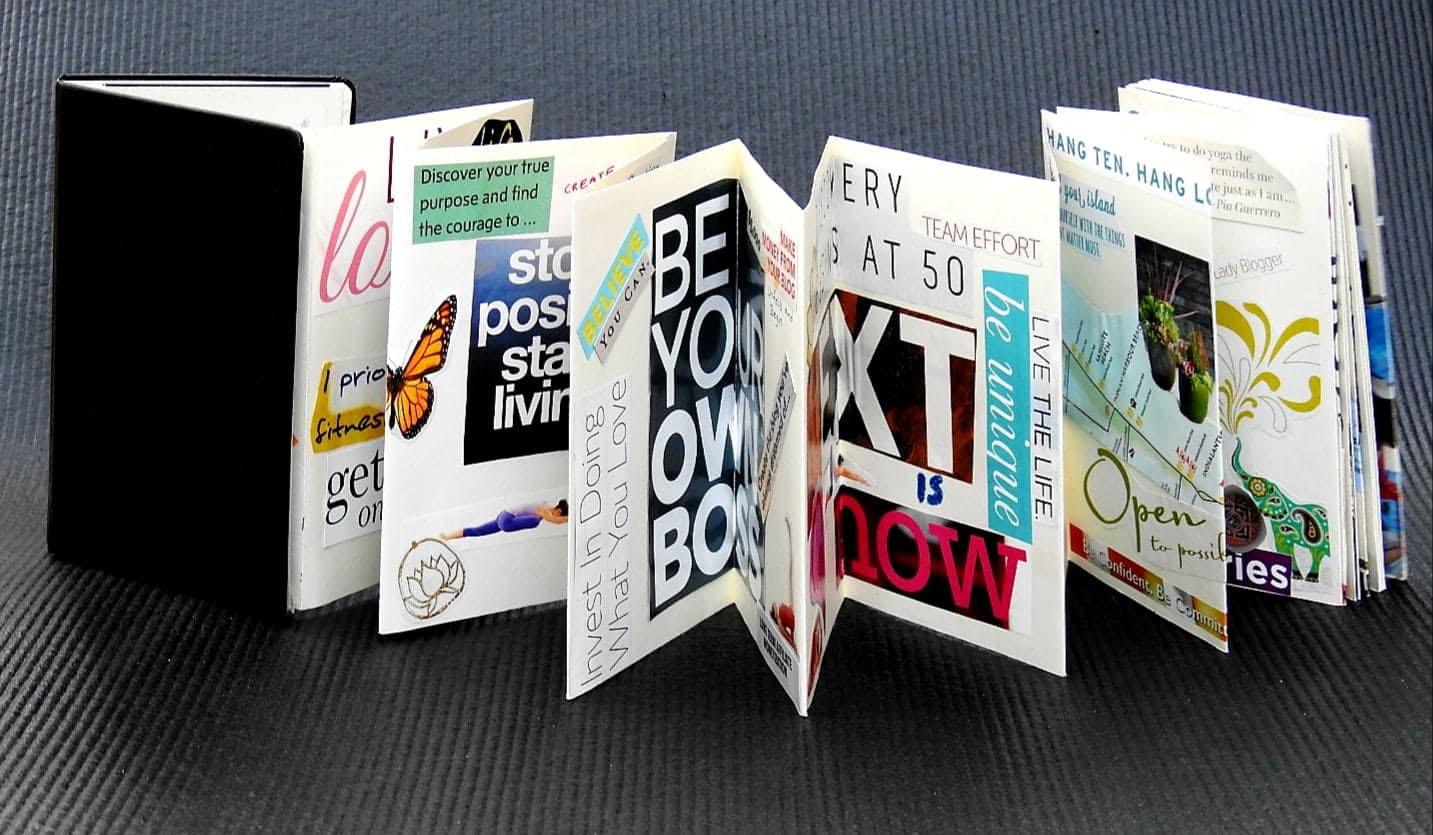 Example of a portable vision board from Unfold and Begin