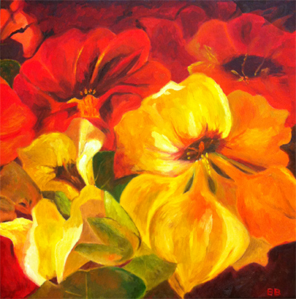 Nasturtiums - oil painting