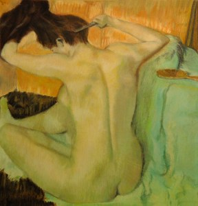 Woman Combing Her Hair -Stephanie Lewis -after Degas