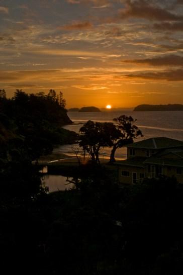 Sunset over Waitete Bay