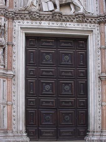 Doors in San Marco Piazza