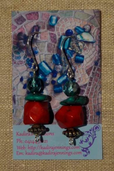 Coral Shiva Earrings