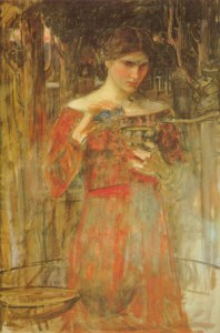 understanding underpainting in 2 colours, Waterhouse