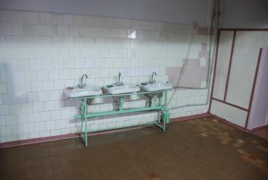 These are the sinks we replaced at the Boys Rehab Center