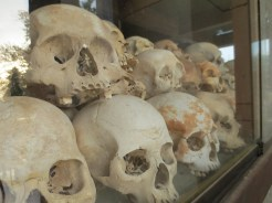 There are piles and piles of skulls (more than 5,000), representing only a fraction of the total number of bodies estimated to be buried there.