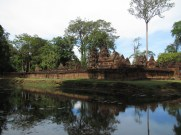 Banteay Srei is quite a trek from Siem Reap (it's off the map, literally), but is worth the trip for its intricate carvings.