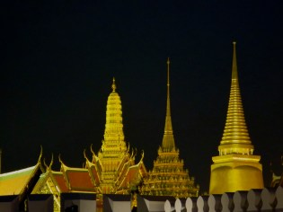 The grand palace by night.