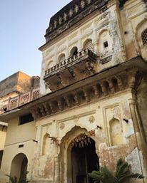 Alipura Palace, the balcony from our bedroom
