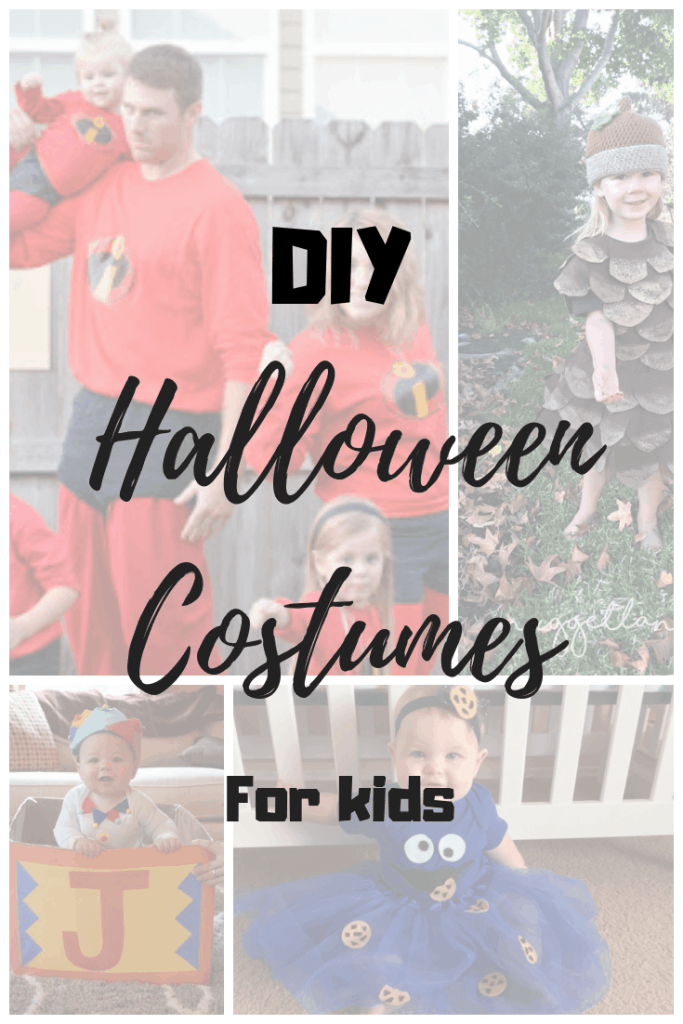 DIY Halloween Costumes for Kids! Princess Poppy Troll, Cookie Monster, the Incredibles, Jack in the Box, Ghost costume and more! #unfrazzledmama #halloweencostume #diy #halloween #fall #fallfamilyfun