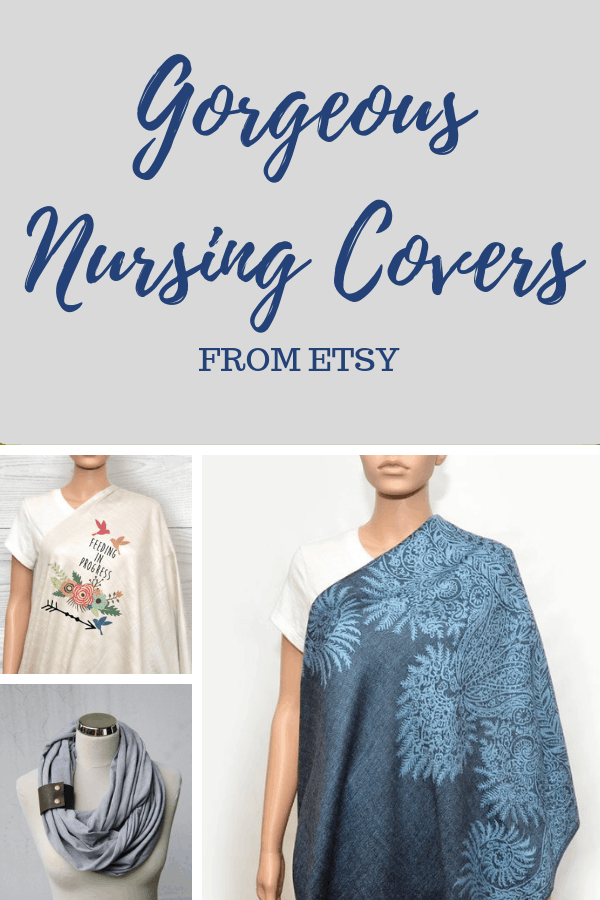 Pretty nursing covers from Etsy to confidently breastfeed in public. #unfrazzledmama #nursingcover #breastfeeding #breastfeedinginpublic