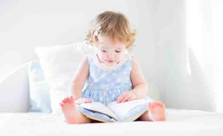 toddler kid having quiet time