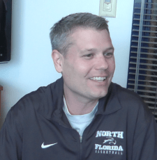 Photo from video credit: Travis Gibson Associate head coach Bobby Keenen