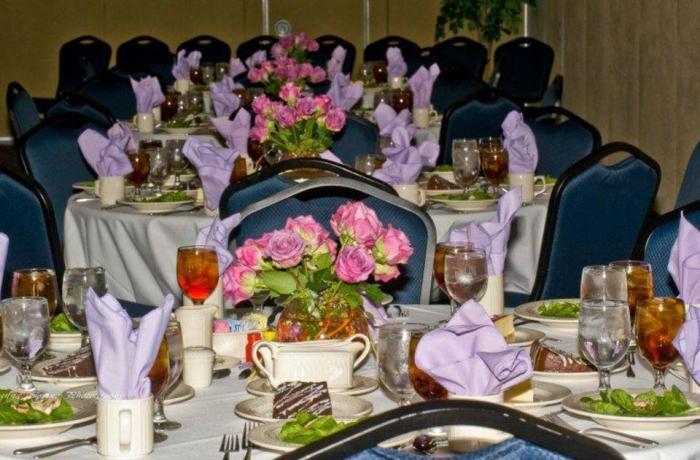 The Lavender Graduation had an elaborate dinner last year.  Photo courtesy of Facebook.