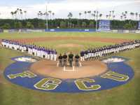 Despite beating FGCU to start the tournament, the Ospreys season ended at the claws of the Eagles.  Photo  courtesy asunphotos.com