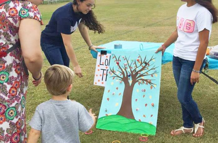 Sorority sisters created hand-made games for the carnival.