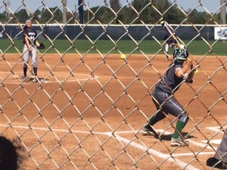 Softball lost their series 2-1 against the Stetson Hatters.  Photo by Joslyn Simmons