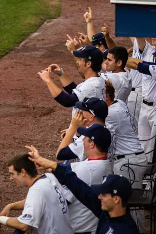 UNF came back from a five-run deficit to finish the season sweep of USF. Photo by UNF Spinnaker