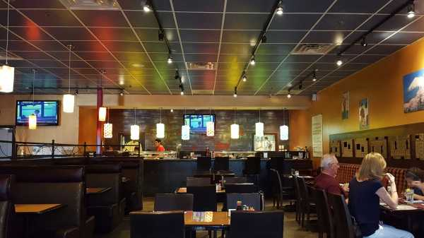 Crazy Sushi on Southside Boulevard is full of bright lights and hit music for easy eating. Photo by Courtney Stringfellow