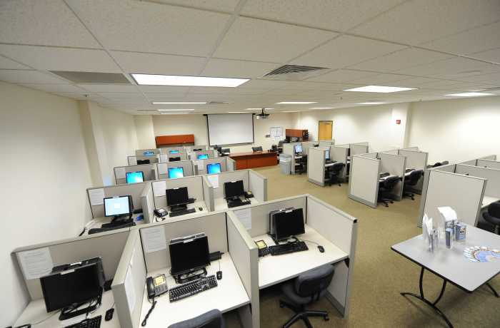 The Public Opinion Research Lab sits on the second floor of Building 51, in room 2222. Photo courtesy of PORL