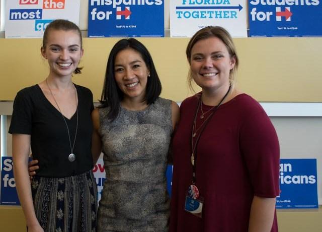 Clinton Campaign outreach triple-axles to UNF