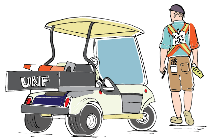 Parking Services employees get a bad rep, but they're just students trying to do their jobs. Illustration by Mariana Martins.