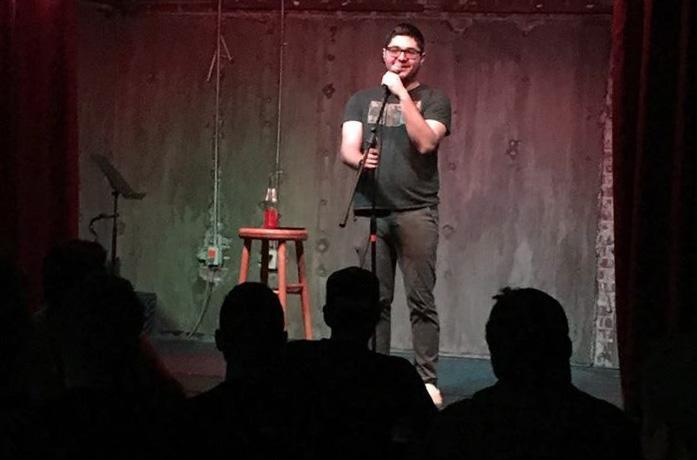 Mitchell Gropman does stand-up comedy when he isn't working or studying. Photo courtesy of Mitchell Gropman.