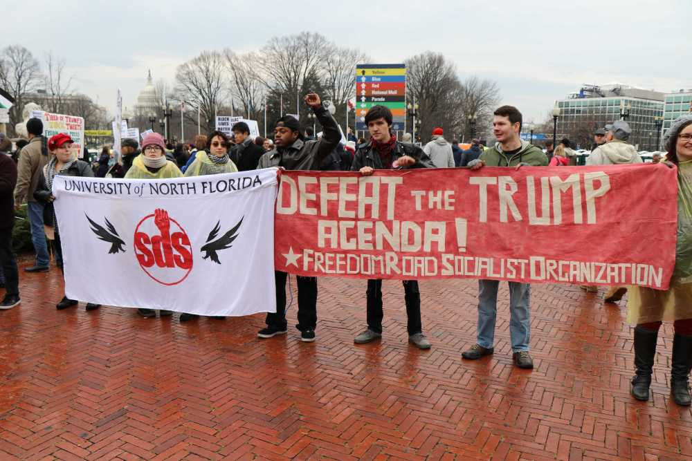 Some students went to D.C. to protest the inauguration.Photo by Adrienne Mayfield/Southside Daily