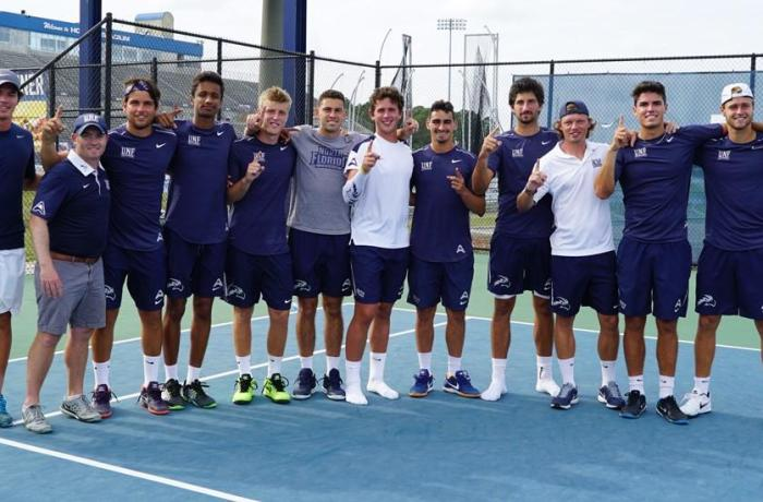 Men's tennis wins on Senior Day