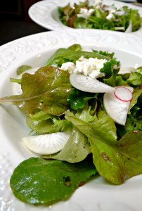 Baby Lettuce Salad with Lemon and Olive Oil