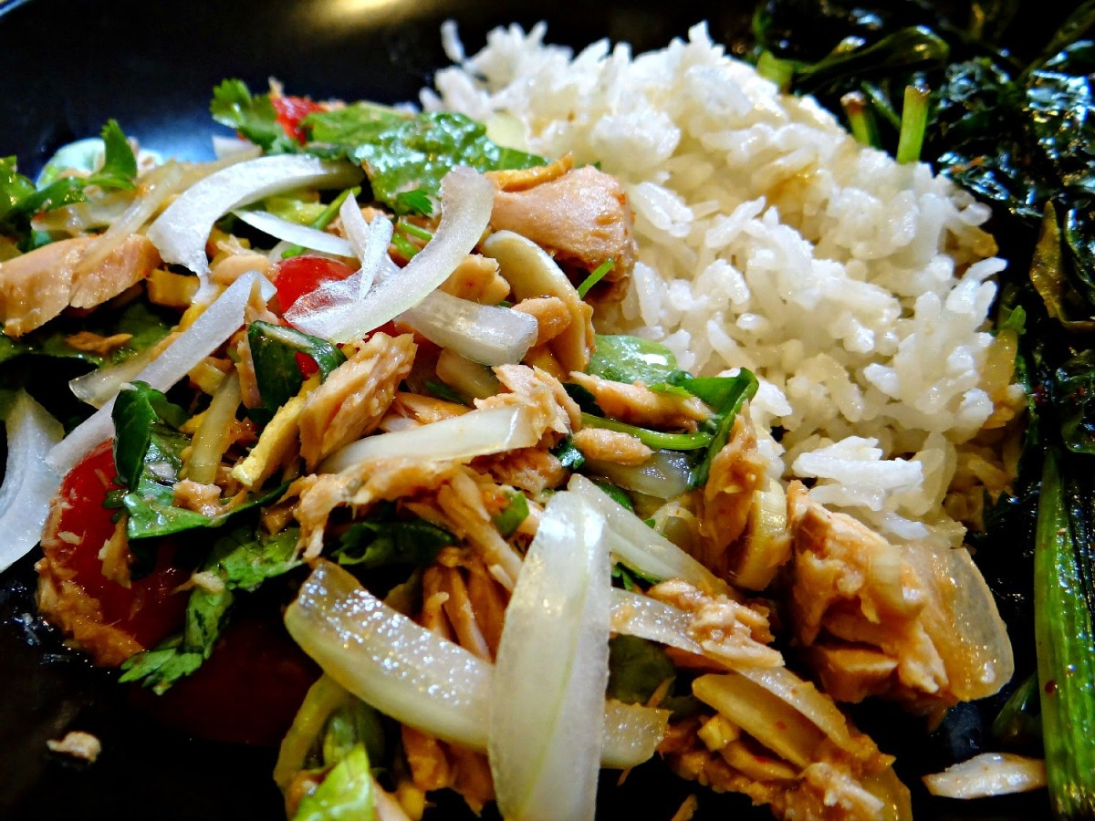 Tangy Thai Salad with Canned Tuna? It's Delicious!