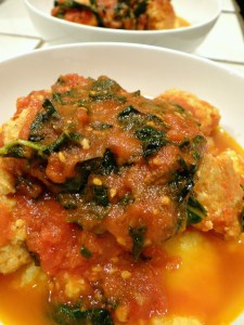 Blue Apron Recipe Review: Chicken Meatballs & Creamy Polenta