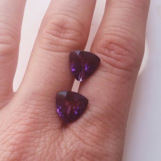 Amethyst Trilliant Gemstone
