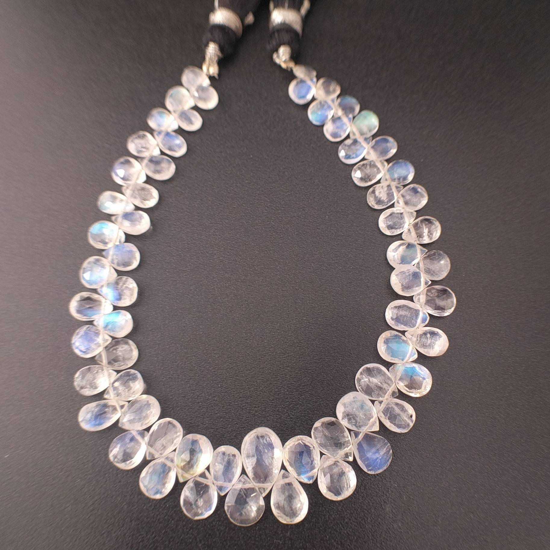 Bio Moonstone Rondelle,Natural Bio Moonstone Faceted Rondelle Shape Beads,Top Quality Bio Briolettes Beads,7-9 Approx,8 Inches Beads