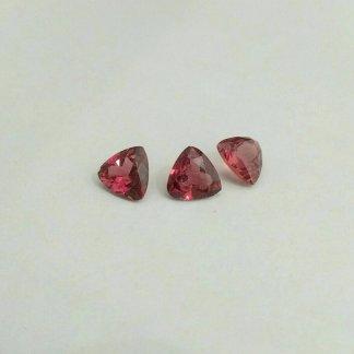 Rhodolite Garnet Trilliants
