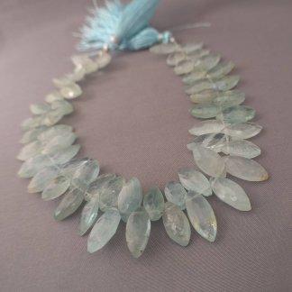 Aquamarine Briolette Beads